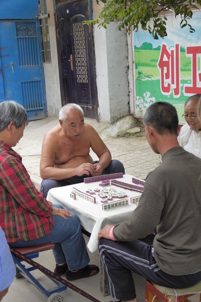Men playing mahjong in Kaifeng