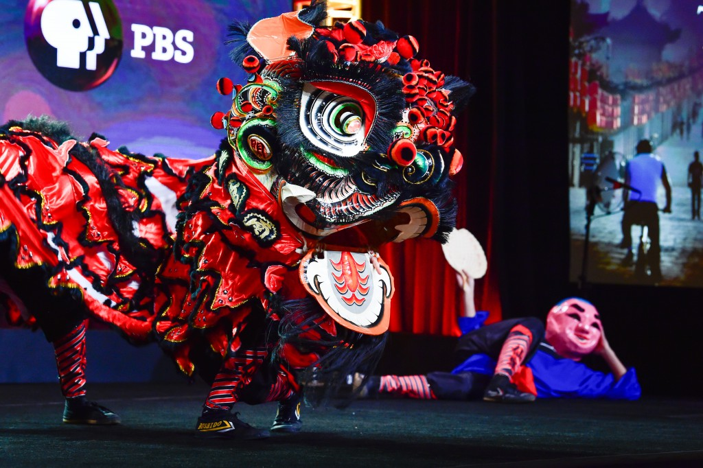 The Immortals Lion Dance Team performing at the Television Critics Association Winter Press Tour #TCA17 in Pasadena, CA. Photo Credits Rahoul Ghose/PBS